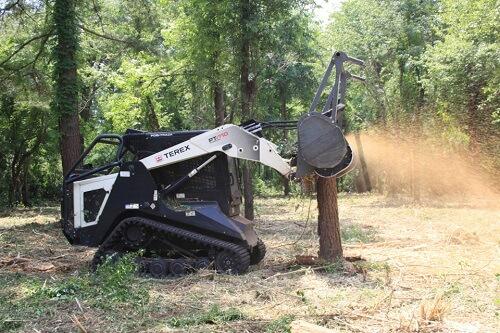 Forestry mulcher in action